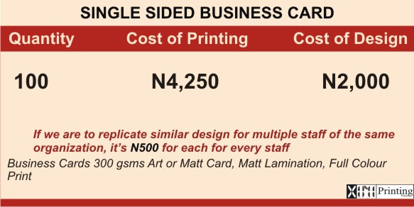 Printing & Branding Services Company In Lagos | Prices