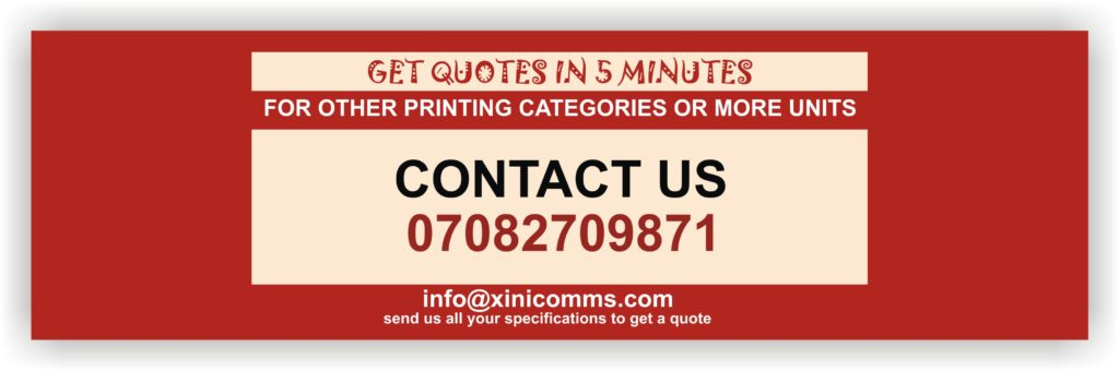Printing & Branding Services Company In Lagos