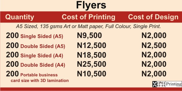 Printing & Branding Services Company In Lagos | Flyer Prices