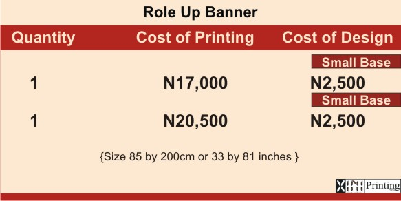 Printing & Branding Services Company In Lagos | Role Up Banner Prices