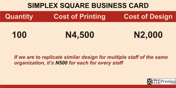 Printing & Branding Services Company In Lagos | Prices of business card