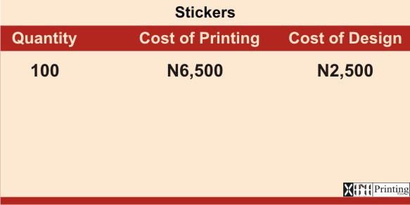 Printing & Branding Services Company In Lagos | Stickers Printing Prices