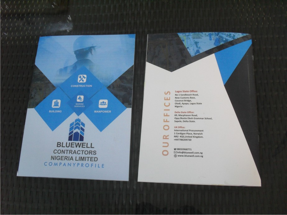 Company Profile Brochure Manual Printing In Lagos Nigeria