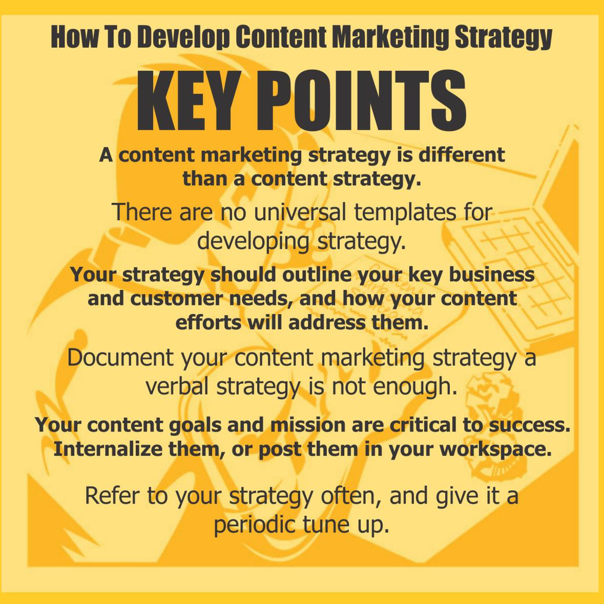 How to develop content