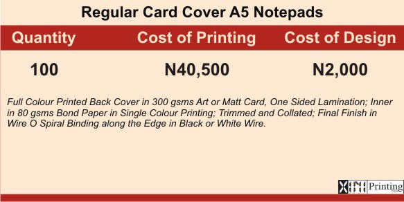 Printing & Branding Services Company In Lagos | Prices Jotter & Notepad